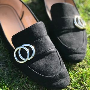 H&M Black Loafers with Pointed Toe